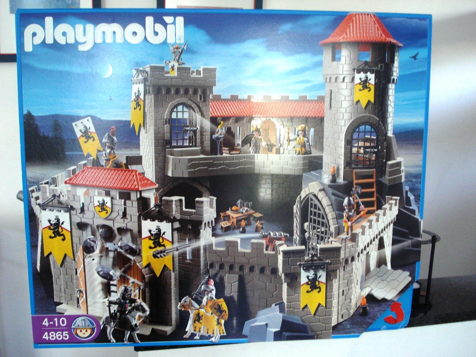 Playmobil 4865 grosse l wenritterburg neu ovp ebay for Playmobil 4865 prix
