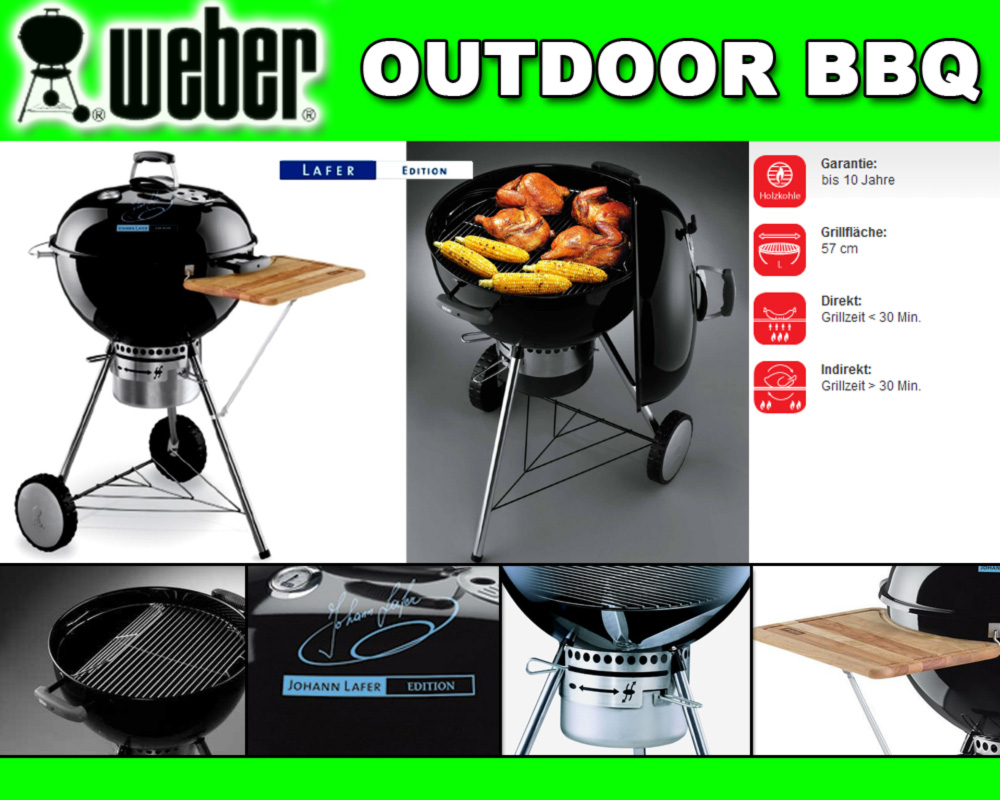 Weber Elektrogrill Lafer Edition : Holzkohlegrill one touch premium cm johann lafer edition grill