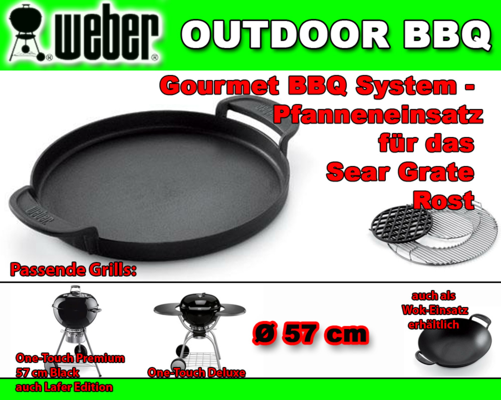 weber 7421 gourmet pfanne bbq system pfanneneinsatz zu. Black Bedroom Furniture Sets. Home Design Ideas