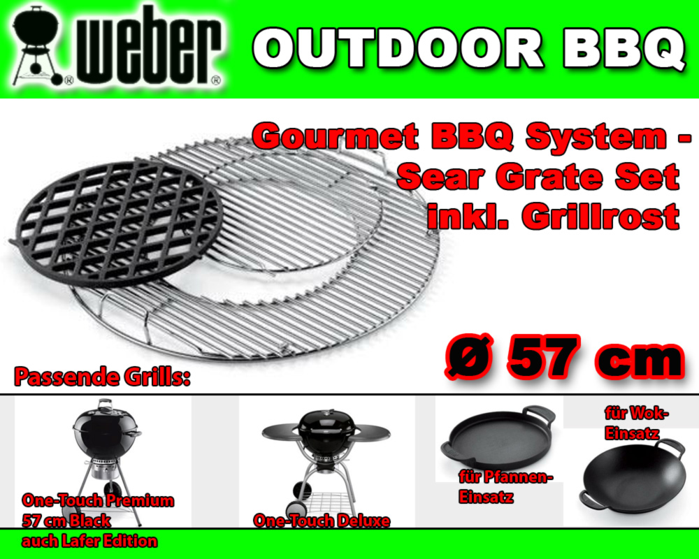 weber 7420 luxus rost zu gourmet bbq system sear grate set steak grillrost 57cm. Black Bedroom Furniture Sets. Home Design Ideas