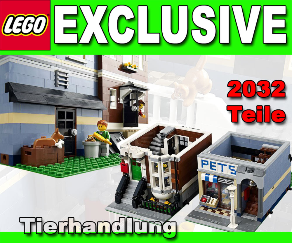lego exclusive 10218 zoohandlung tiergesch ft pets shop ebay. Black Bedroom Furniture Sets. Home Design Ideas