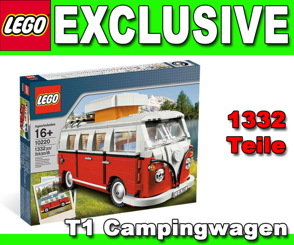 lego exclusiv 10220 vw bulli t1 volkswagen bus. Black Bedroom Furniture Sets. Home Design Ideas
