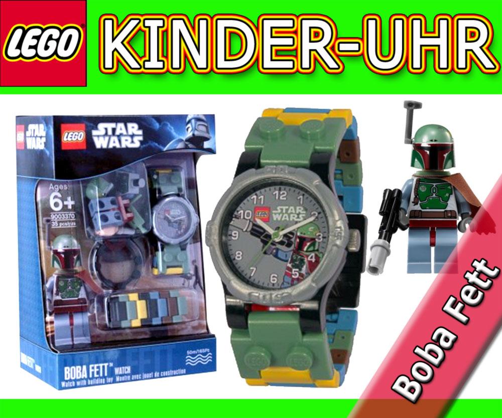 neu lego star wars armbanduhr mit minfigur boba fett uhr kinderuhr kids watch ebay. Black Bedroom Furniture Sets. Home Design Ideas