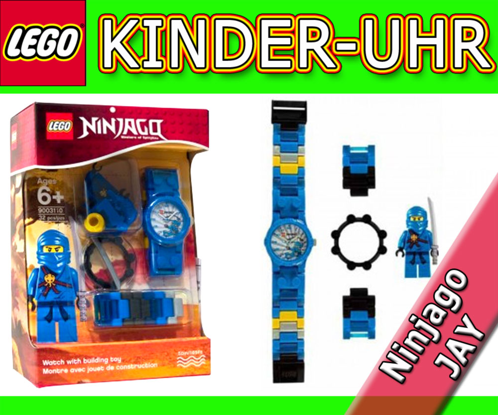 lego ninjago jay kinderuhr clictime uhr armbanduhr. Black Bedroom Furniture Sets. Home Design Ideas