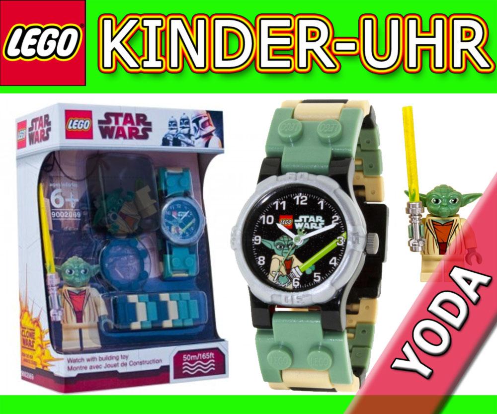 neu lego star wars armbanduhr mit yoda minifigur uhr kinderuhr kids watch bnisb ebay. Black Bedroom Furniture Sets. Home Design Ideas