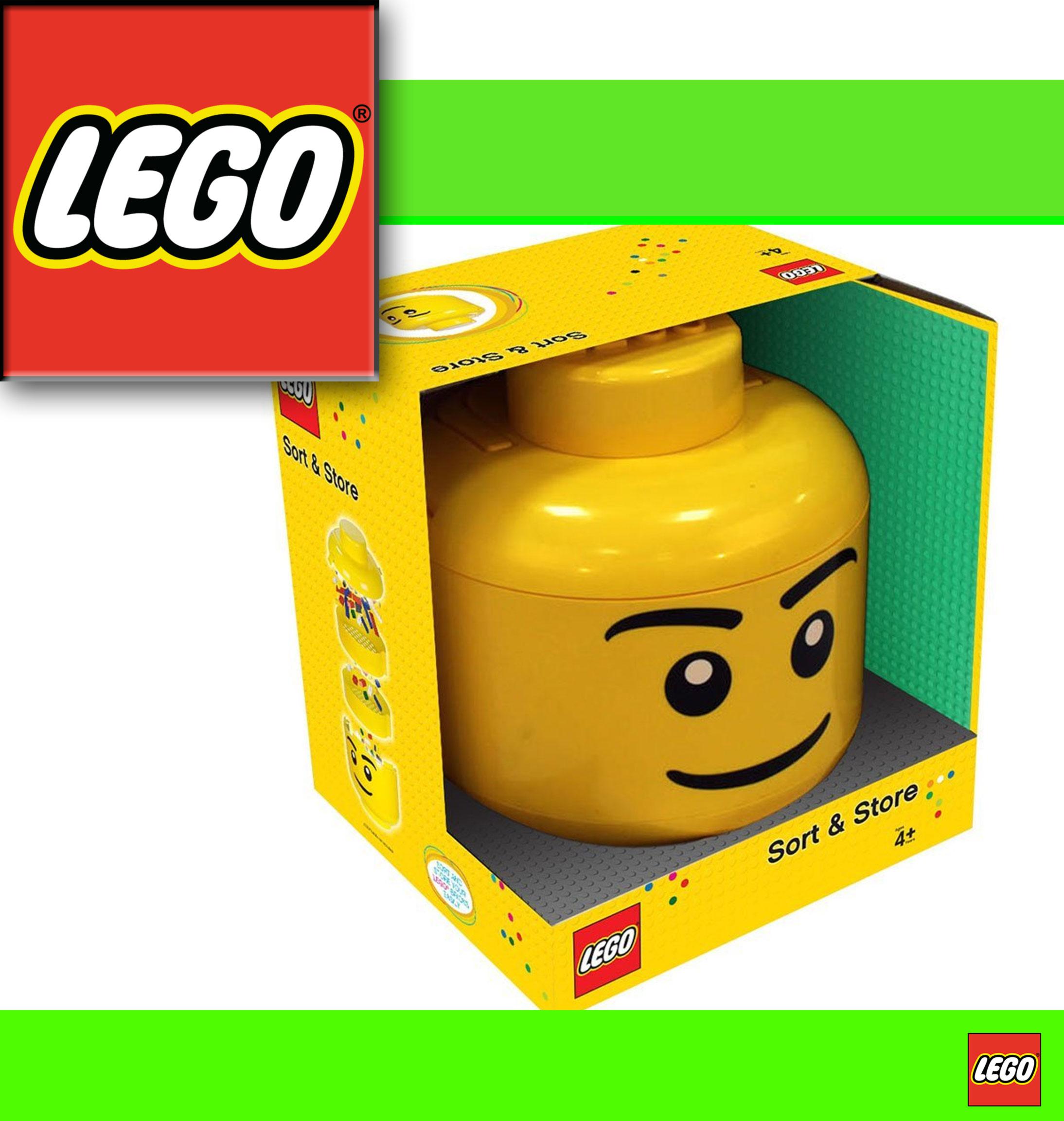 lego steine sortierer eimer sort store xxl kopf aufbewahrung storage head ebay. Black Bedroom Furniture Sets. Home Design Ideas