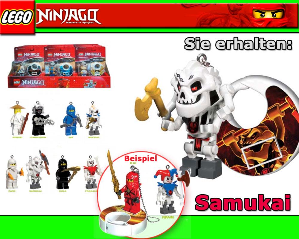 LEGO Ninjago SAMUKAI Schlüsselanhänger mit Sound keychain ...