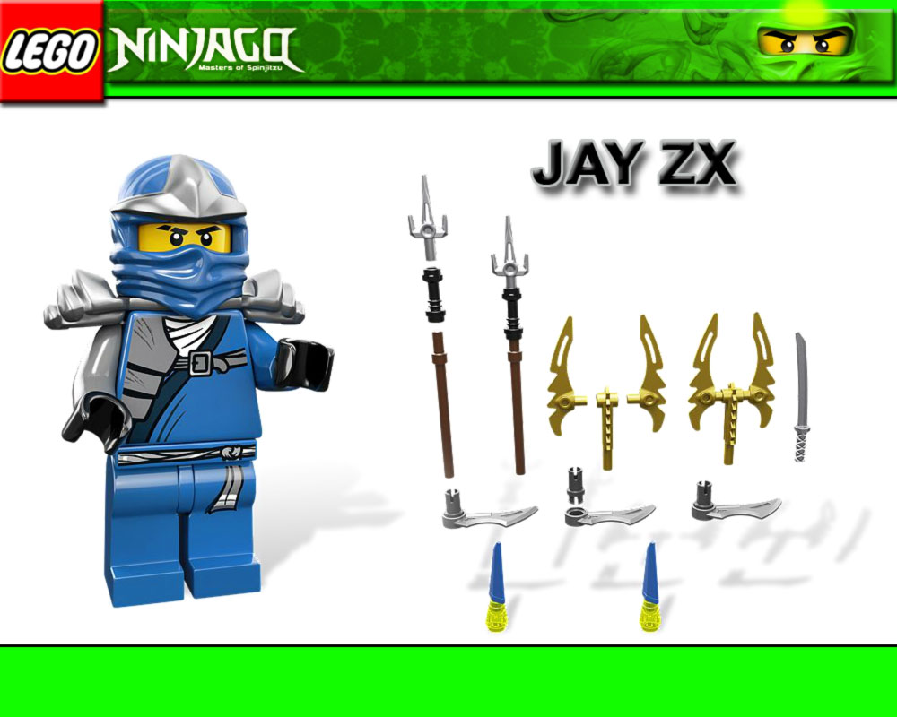 lego ninjago 9553 jay zx booster pack karten waffen. Black Bedroom Furniture Sets. Home Design Ideas