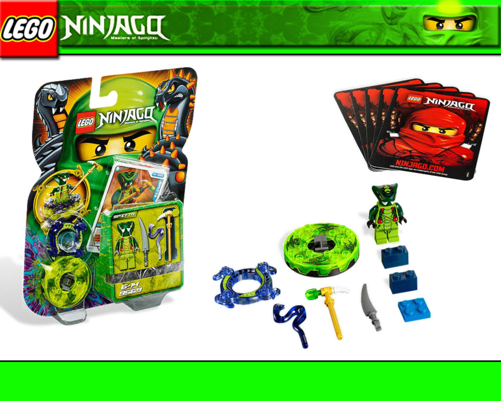 lego ninjago 9569 spitta spinner karten waffen cards. Black Bedroom Furniture Sets. Home Design Ideas