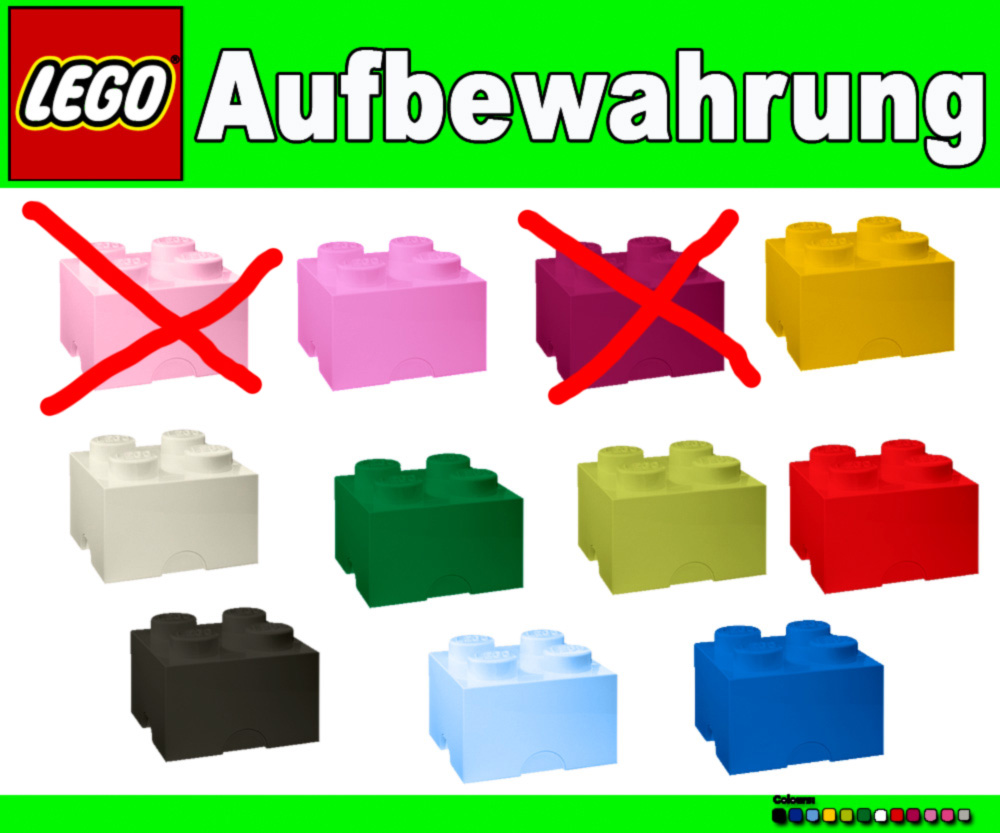 lego xxl 2x2 stein storage brick box aufbewahrung kiste ebay. Black Bedroom Furniture Sets. Home Design Ideas