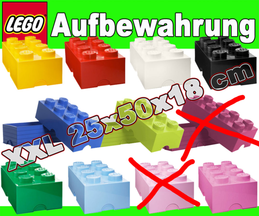 lego xxl 2x4 stein storage brick box aufbewahrung kiste ebay. Black Bedroom Furniture Sets. Home Design Ideas