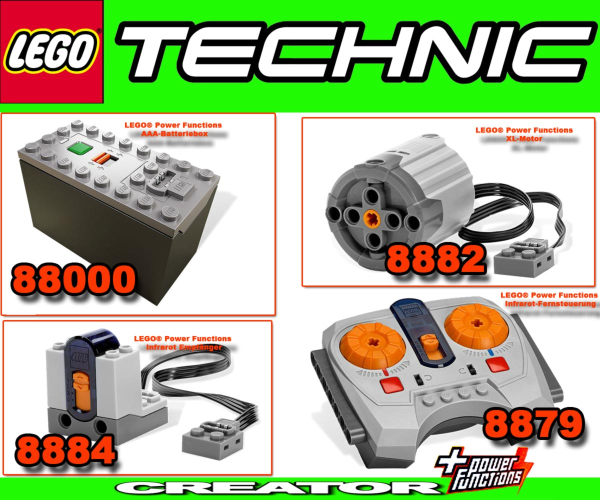lego technic remote controle power functions 8882 8884. Black Bedroom Furniture Sets. Home Design Ideas