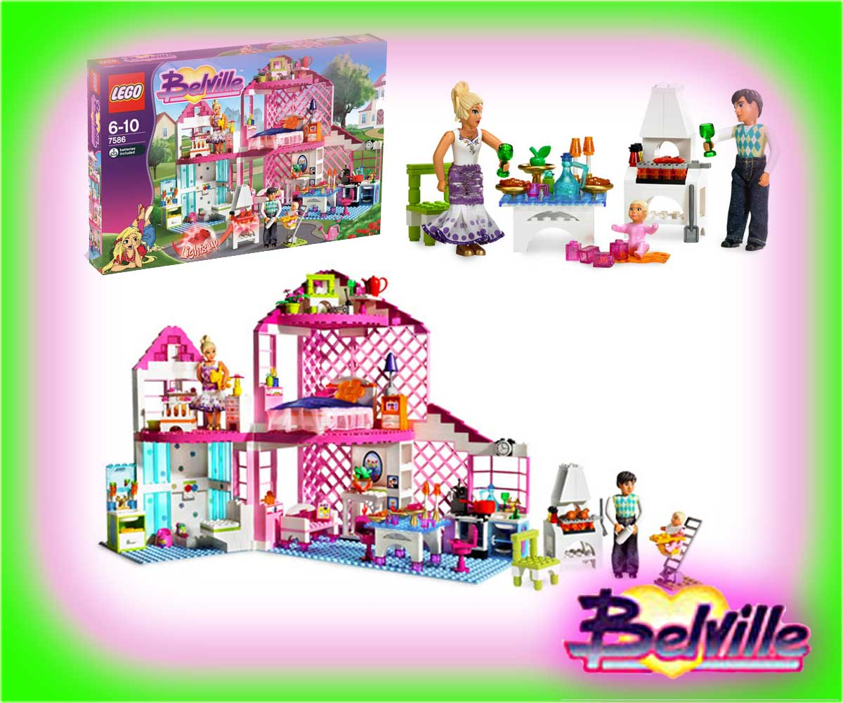 belville lego girl dream house villa xl alternative. Black Bedroom Furniture Sets. Home Design Ideas
