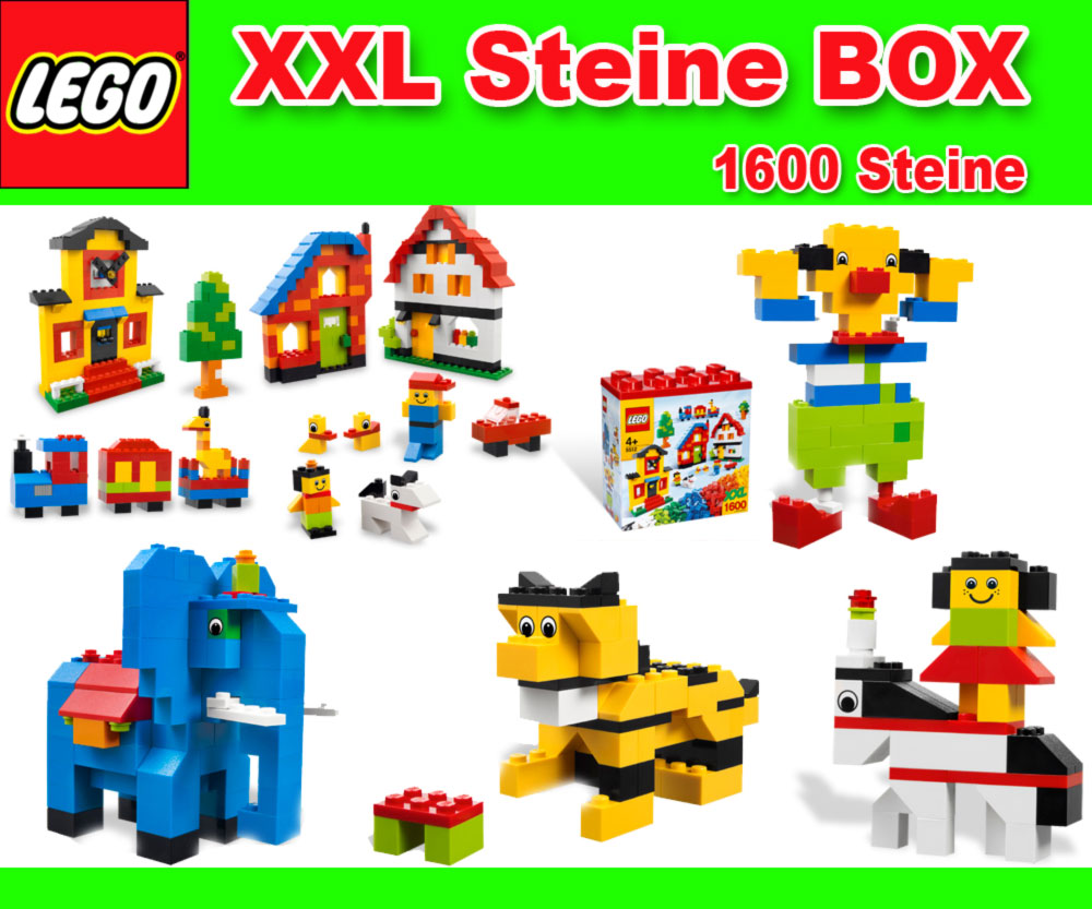 neu lego 10664 xl steinebox mit 630 elementetrenner 1600 steine seperator. Black Bedroom Furniture Sets. Home Design Ideas
