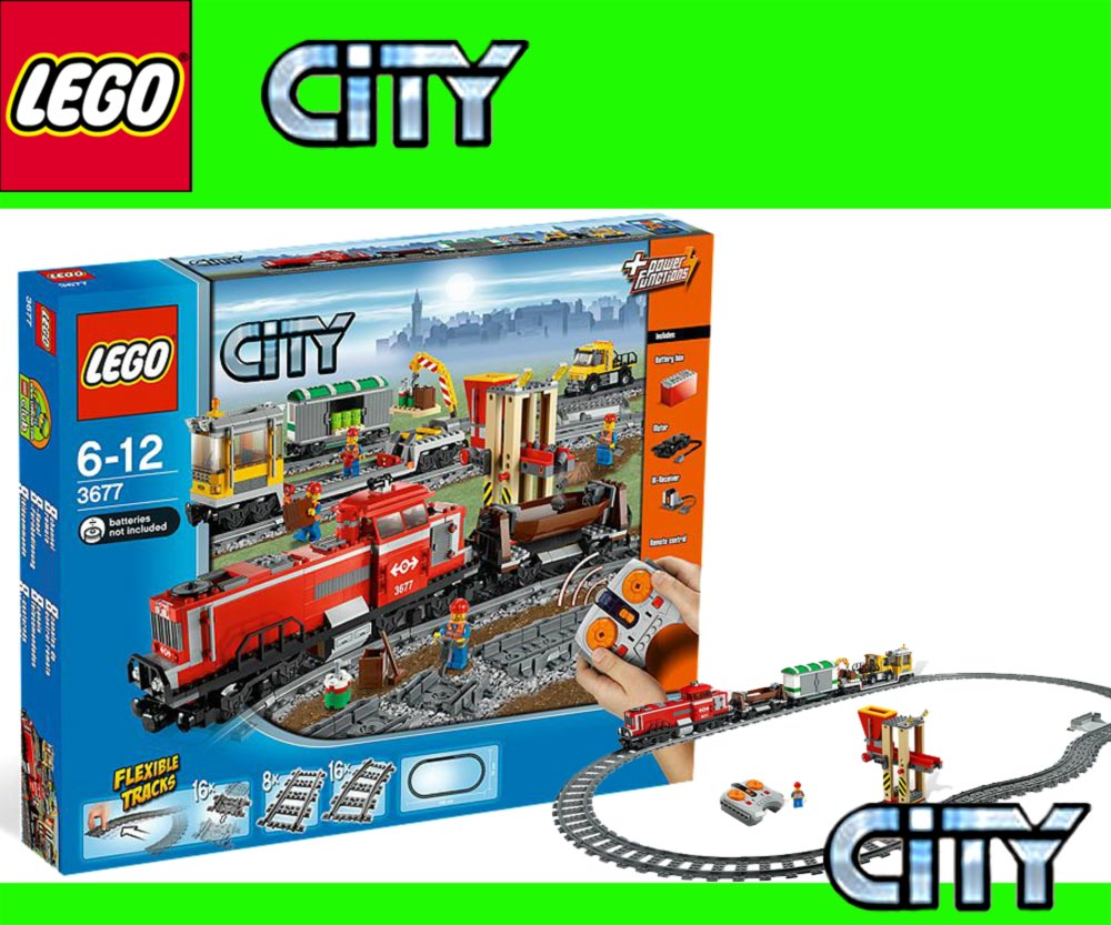 ferrovia lego city 3677 locomotiva diesel treno merci con. Black Bedroom Furniture Sets. Home Design Ideas