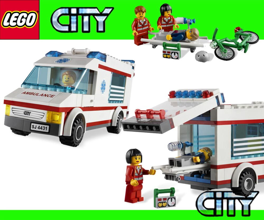 lego city 4431 krankenwagen 4432 m llauto 4433 cross bike. Black Bedroom Furniture Sets. Home Design Ideas