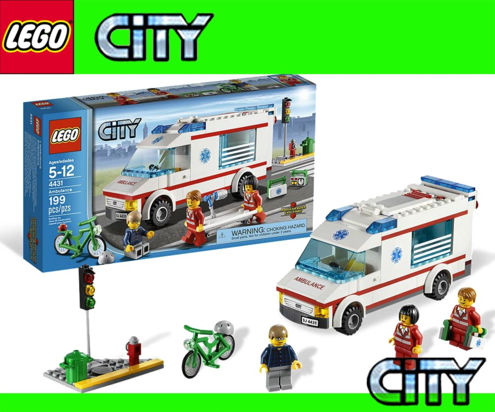mach dich mit dem lego city krankenwagen schnell auf den. Black Bedroom Furniture Sets. Home Design Ideas