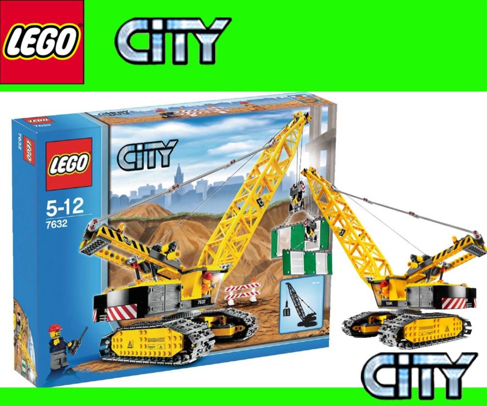 neu lego city baustelle kran 7632 raupenkran crawler crane misb ebay. Black Bedroom Furniture Sets. Home Design Ideas