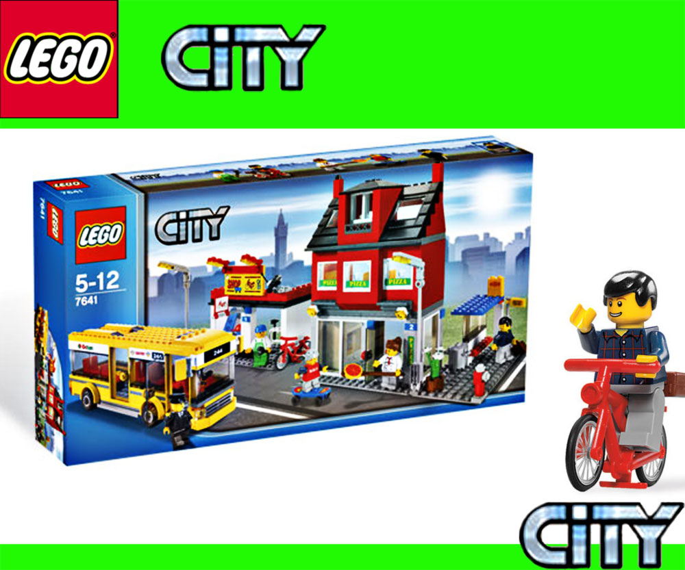 lego exclusive sets ciudad 7641 distrito con autobus y pizzeria ebay. Black Bedroom Furniture Sets. Home Design Ideas