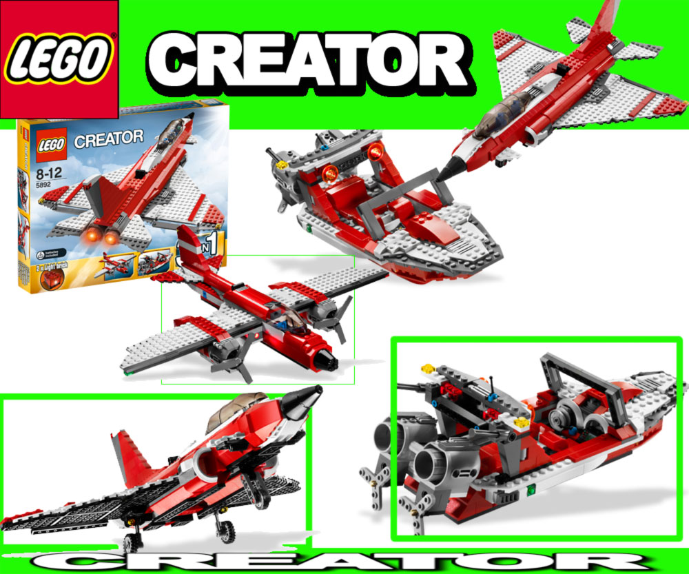 lego 5892 creator 3in1 jet plane boat airplane ebay. Black Bedroom Furniture Sets. Home Design Ideas