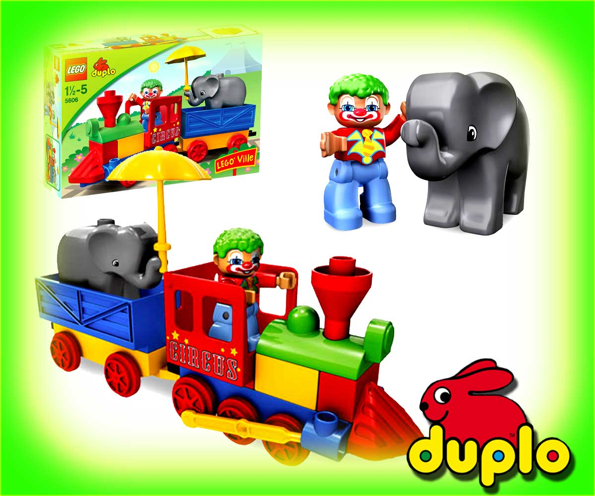 neu lego duplo 5606 schiebezug mein erster zug zirkus ebay. Black Bedroom Furniture Sets. Home Design Ideas