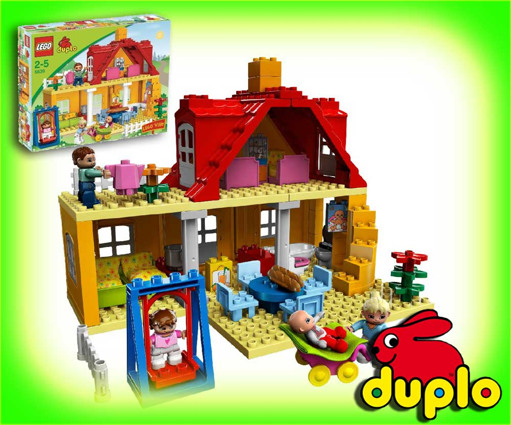 lego duplo ville 5639 familienhaus haus villa ebay. Black Bedroom Furniture Sets. Home Design Ideas
