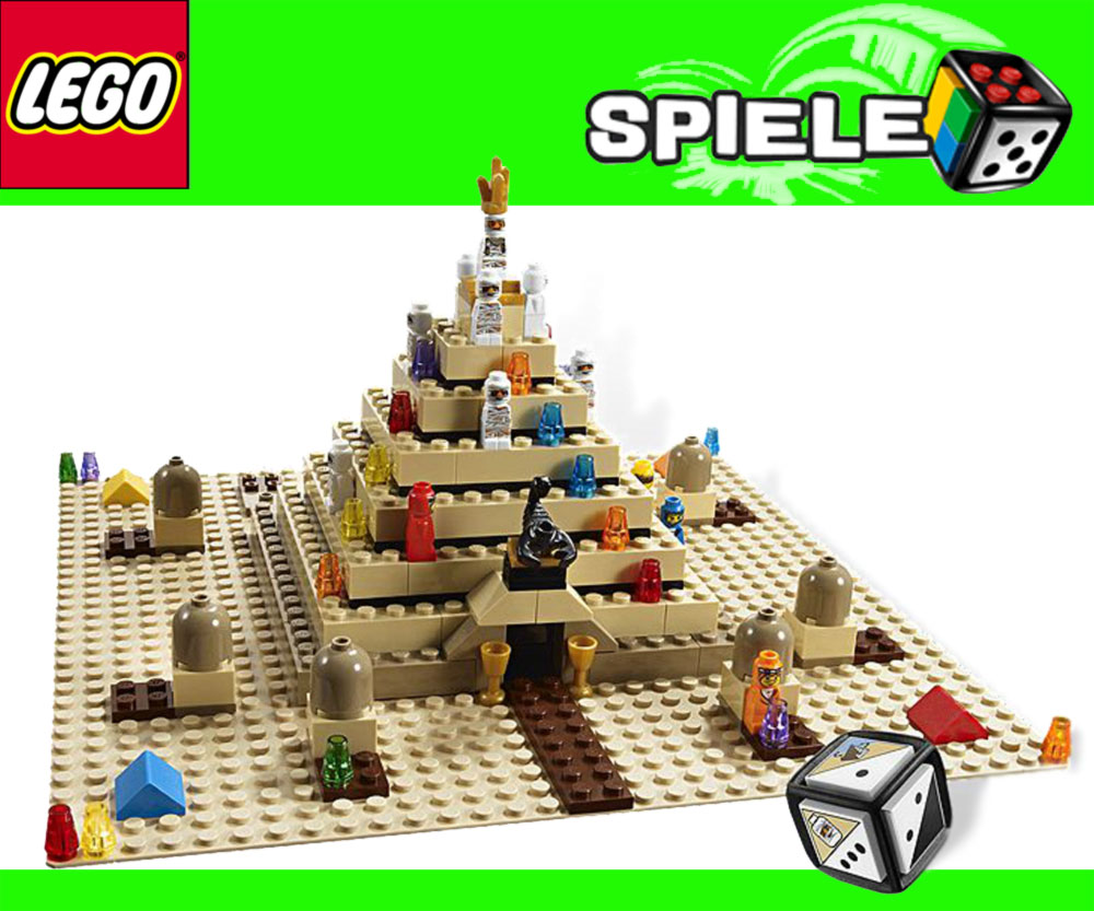lego spiele 3d w rfelspiel thema gypten 3843 ramses pyramide ebay. Black Bedroom Furniture Sets. Home Design Ideas