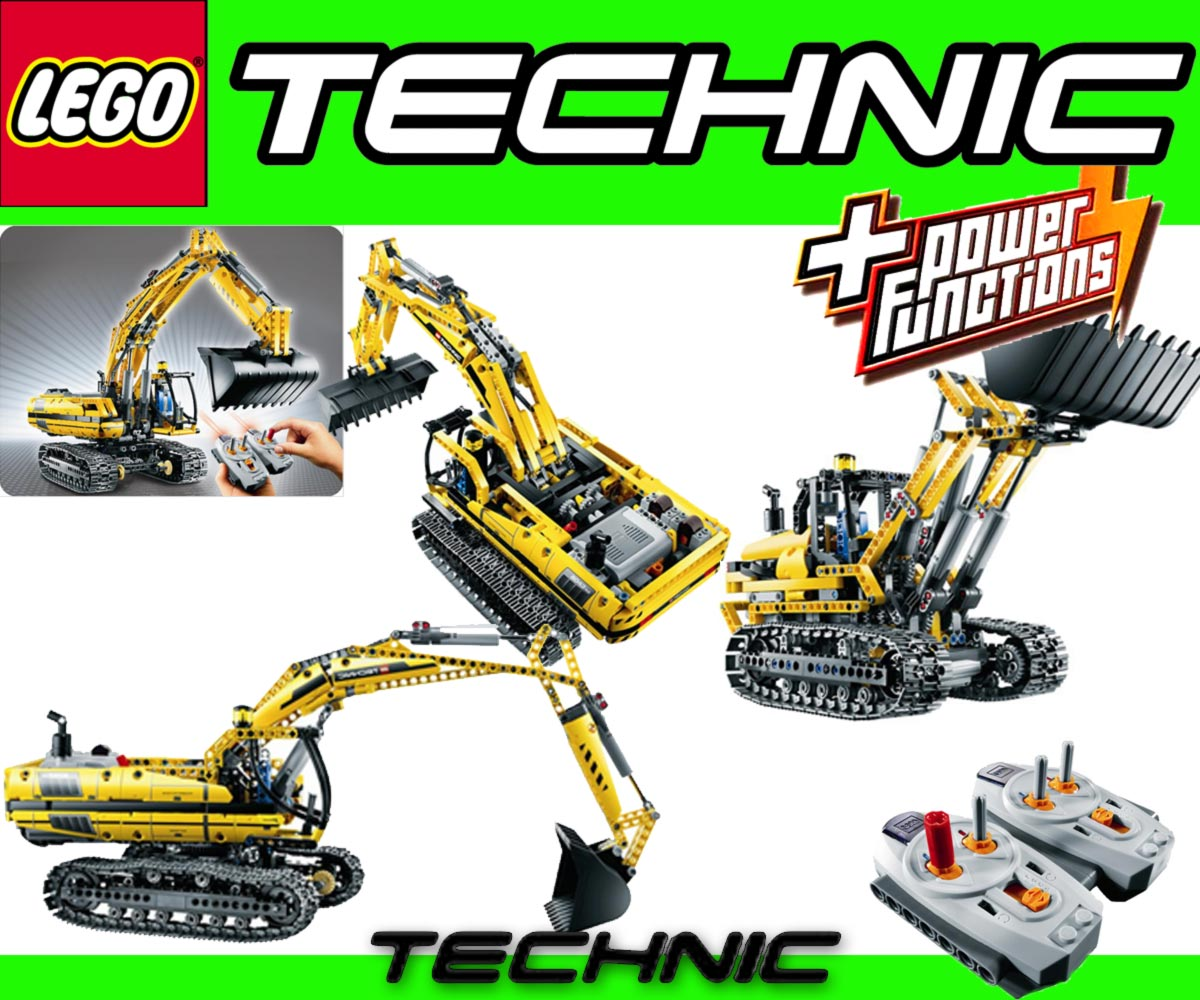 lego technic 8043 raupenbagger gratis 12 x duracell 2in1 motorized excavator ebay. Black Bedroom Furniture Sets. Home Design Ideas