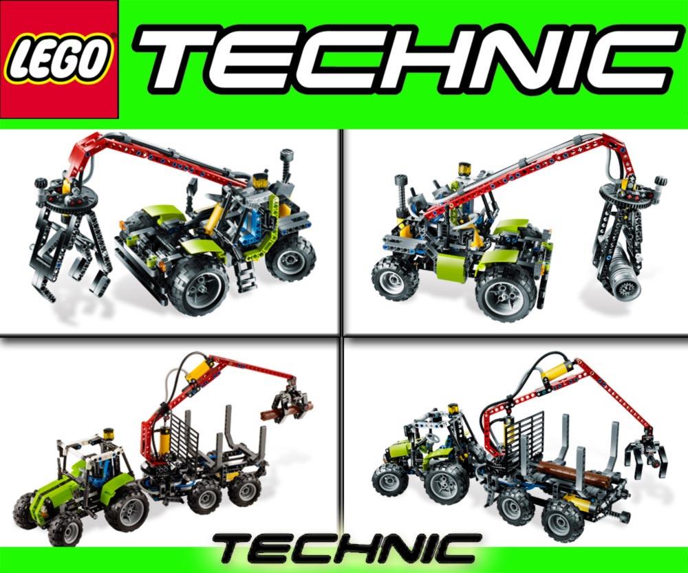 lego technic 8049 traktor forstkran 8293 motor licht ebay. Black Bedroom Furniture Sets. Home Design Ideas