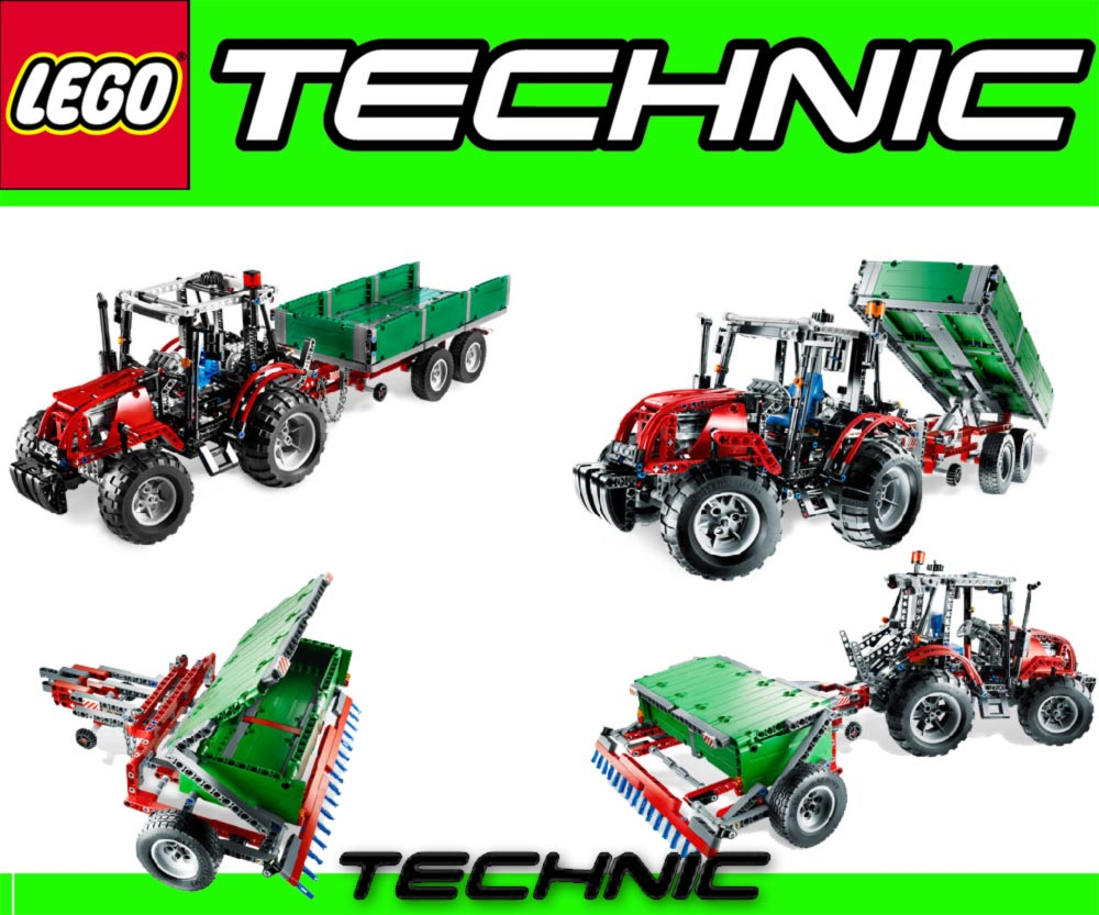 neu lego technic 8063 traktor mit anh nger 2 in 1. Black Bedroom Furniture Sets. Home Design Ideas