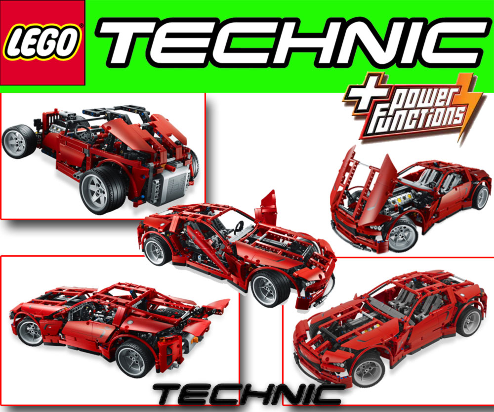 lego technic 8070 super car 2 in 1 with power functions ebay. Black Bedroom Furniture Sets. Home Design Ideas