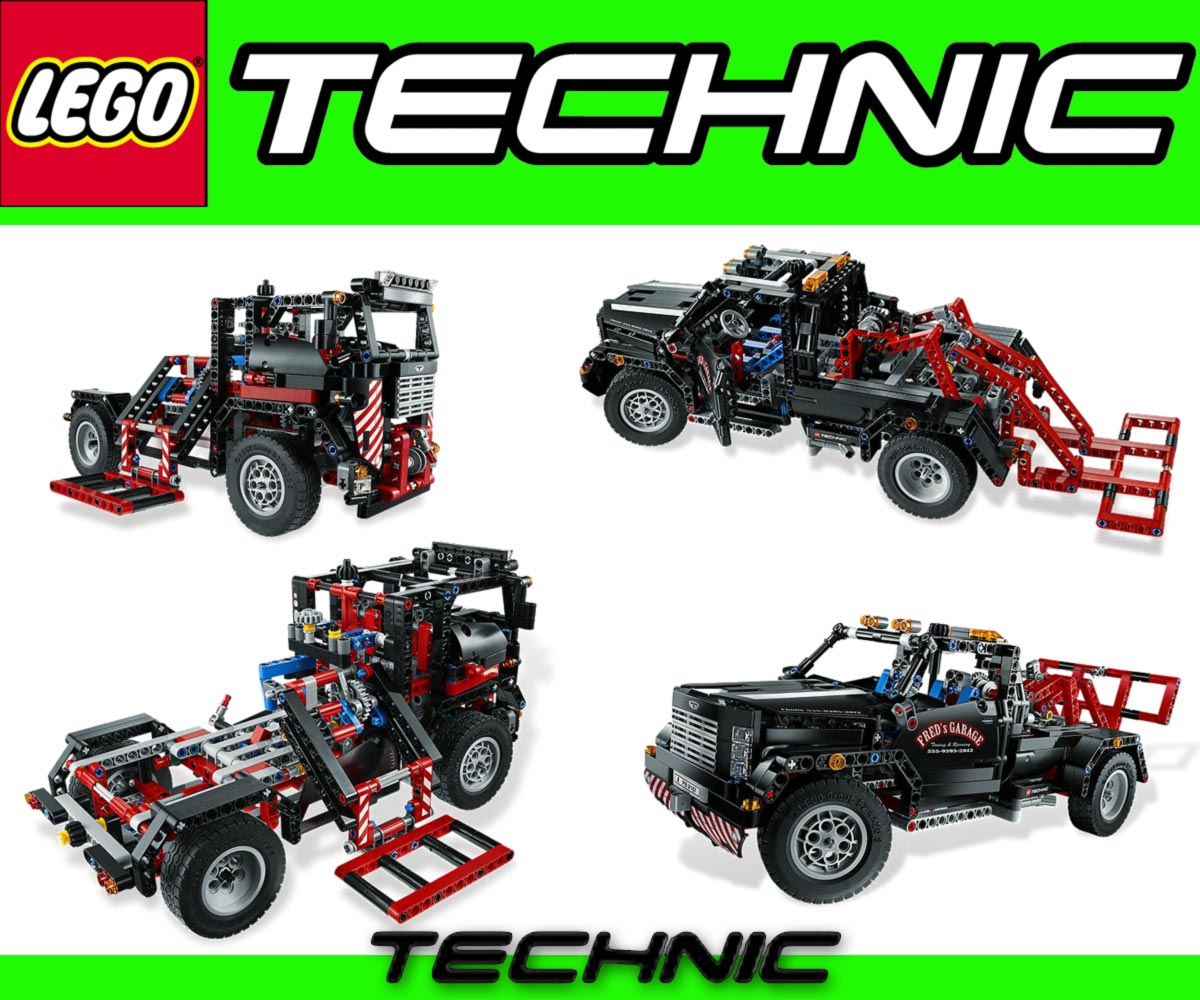 lego technic 9397 logging truck 9395 pick up tow truck. Black Bedroom Furniture Sets. Home Design Ideas