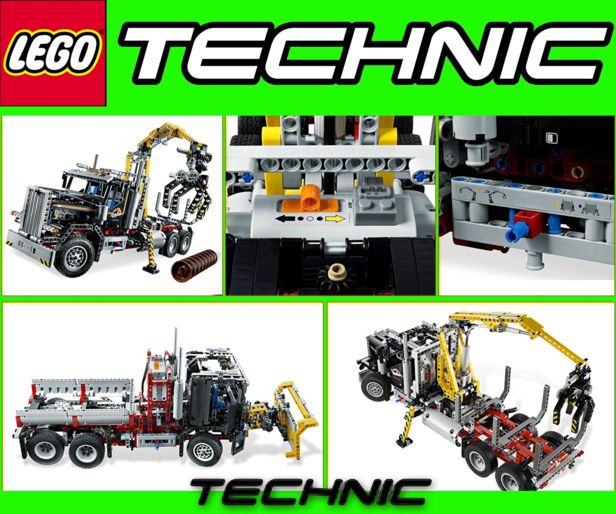 lego technic 9397 logging truck 9395 pick up tow truck. Black Bedroom Furniture Sets. Home Design Ideas