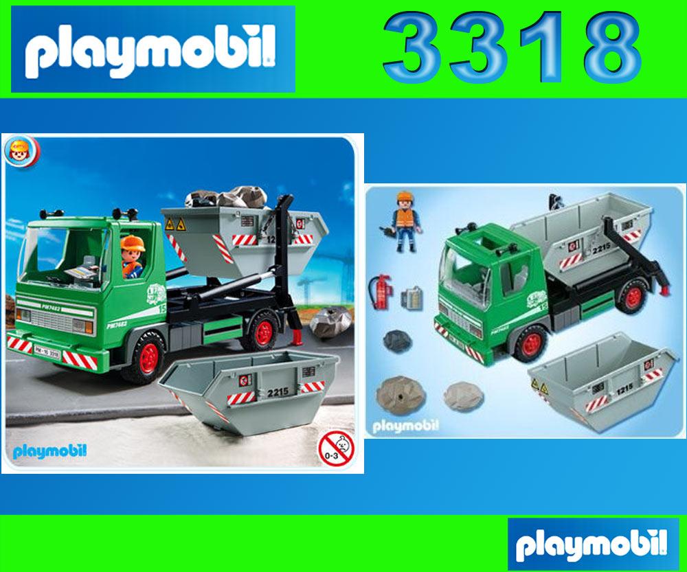 playmobil stadtleben 3318 containerdienst 4129 recycling fahrzeug 4418 ebay. Black Bedroom Furniture Sets. Home Design Ideas
