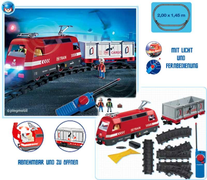Neuf playmobil train 4010 phares lumineux gratuit piles ebay - Train playmobil ...