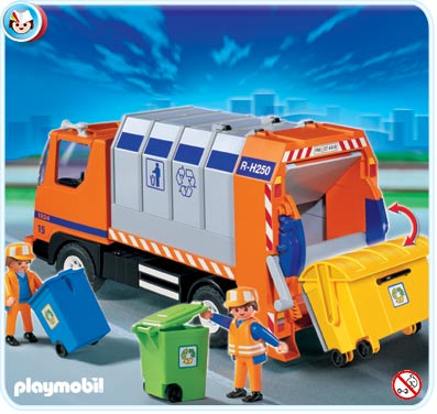 Neuf playmobil 4418 cam poubelle 4419 autobus bus ebay - Autocar playmobil ...