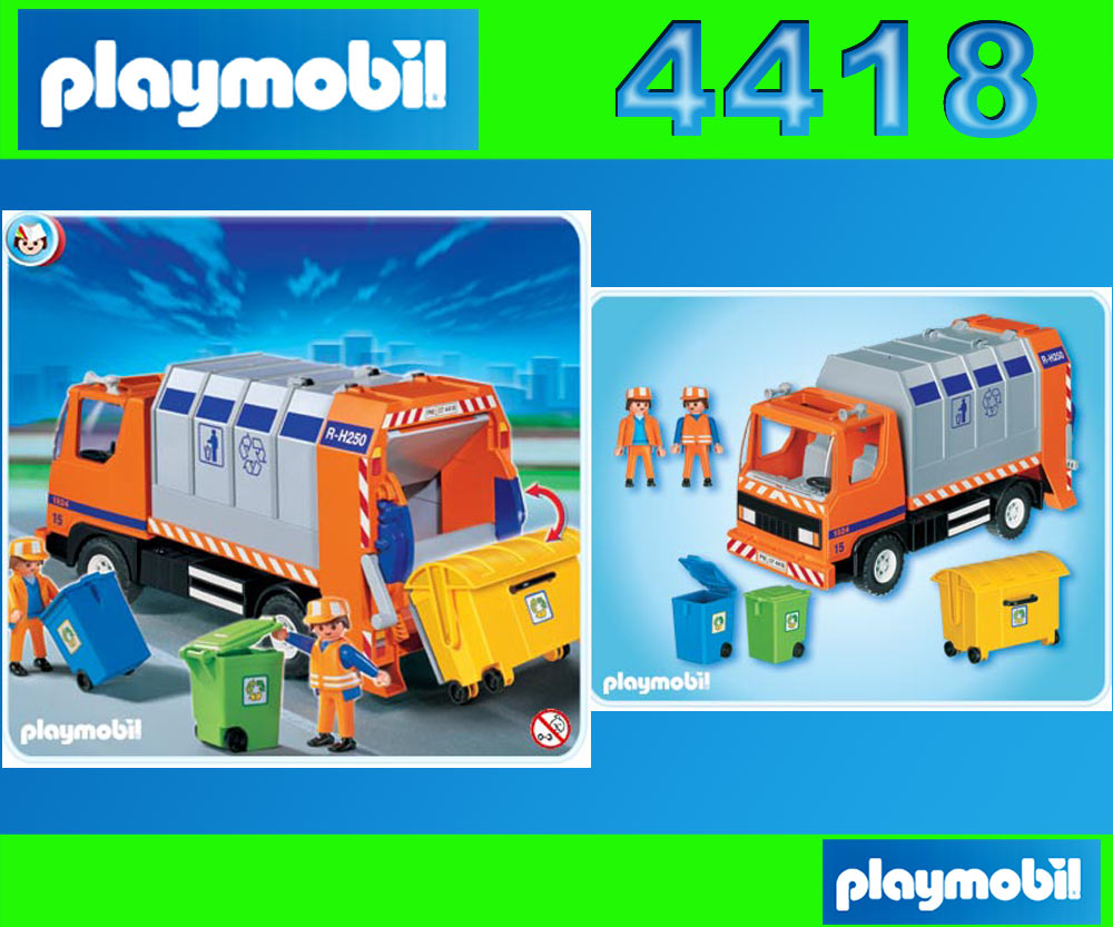 playmobil 4418 stadtleben m llabfuhr stadtreinigung m llcontainer entsorgung. Black Bedroom Furniture Sets. Home Design Ideas