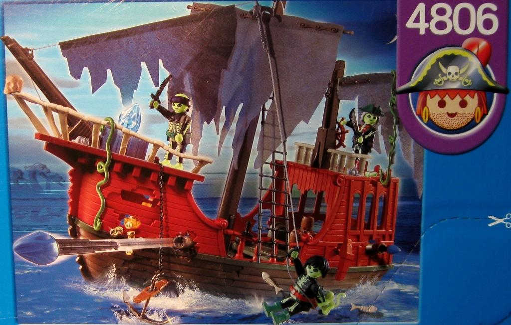 Neuf playmobil 4806 bateau des pirates fant mes ebay - Bateau corsaire playmobil ...