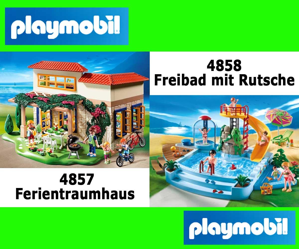 Le playmobil maison de r ve de vacances playmobil nr for Playmobil 4858 piscine avec toboggan