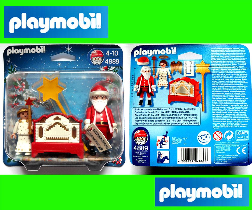 playmobil 4889 engelchen mit nikolaus und leierkasten weihnachten schneemann ebay. Black Bedroom Furniture Sets. Home Design Ideas