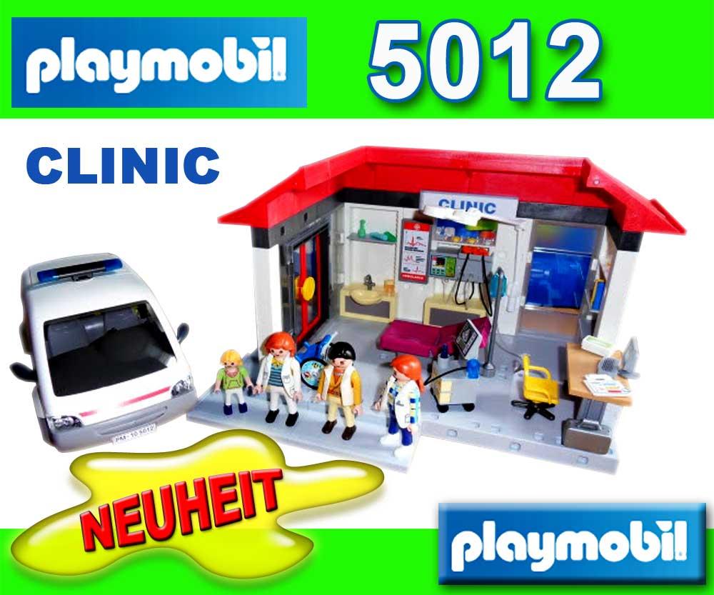 Nouveau playmobil 5012 clinic h pital ambulance samu - Playmobil samu ...