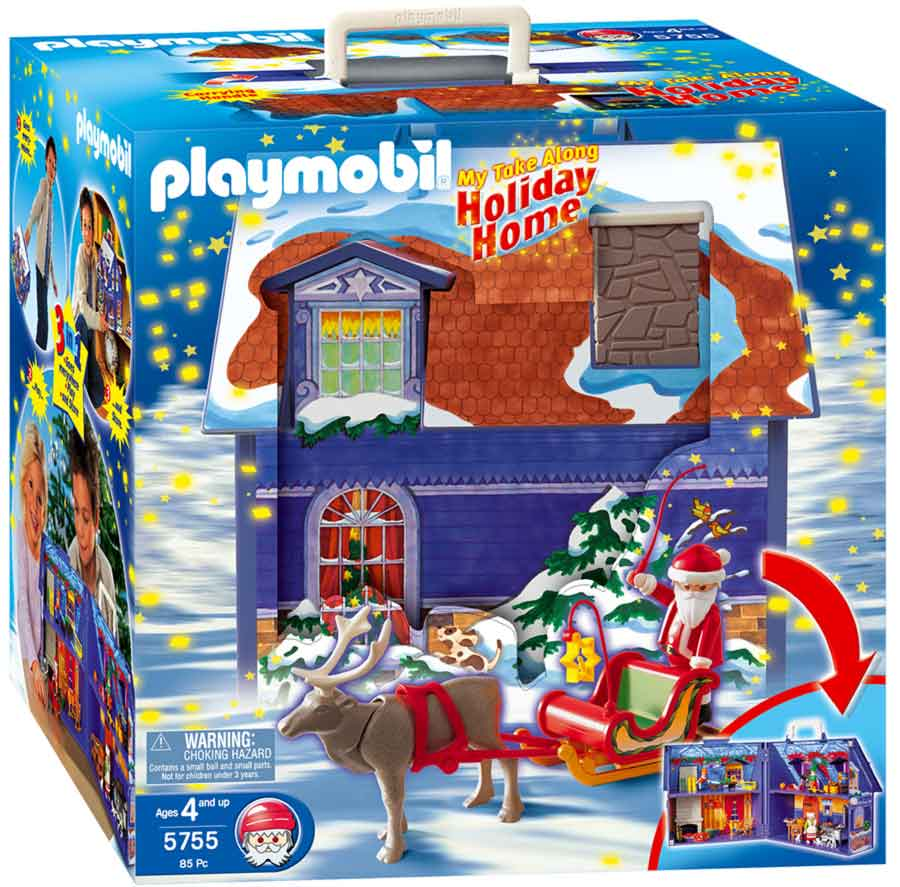 playmobil winterhaus take along 5755 x mas puppenhaus ebay. Black Bedroom Furniture Sets. Home Design Ideas