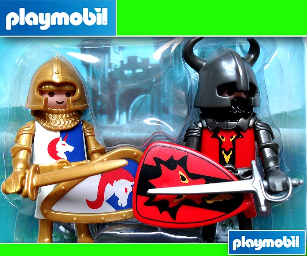 playmobil chevalier 5815 paquet double chevaliers neuf ebay. Black Bedroom Furniture Sets. Home Design Ideas