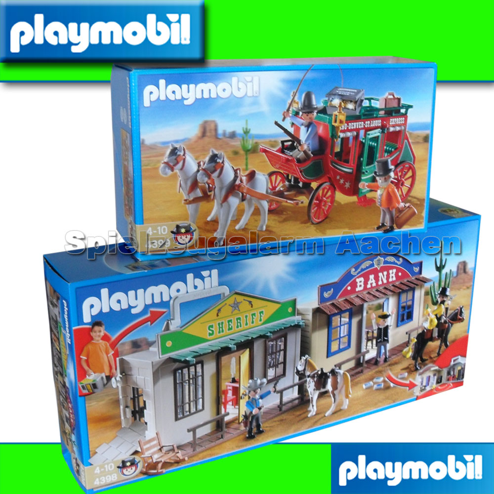 playmobil western set 4398 western city 4399 kutsche