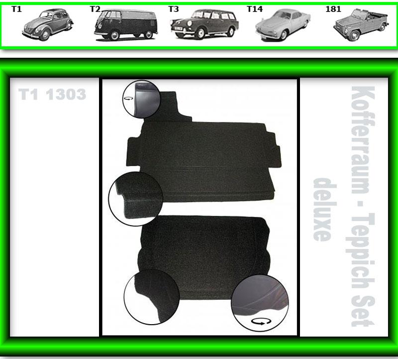 VW Käfer Kofferraum Teppich #3688 T1 1303 deluxe 2tlg mit