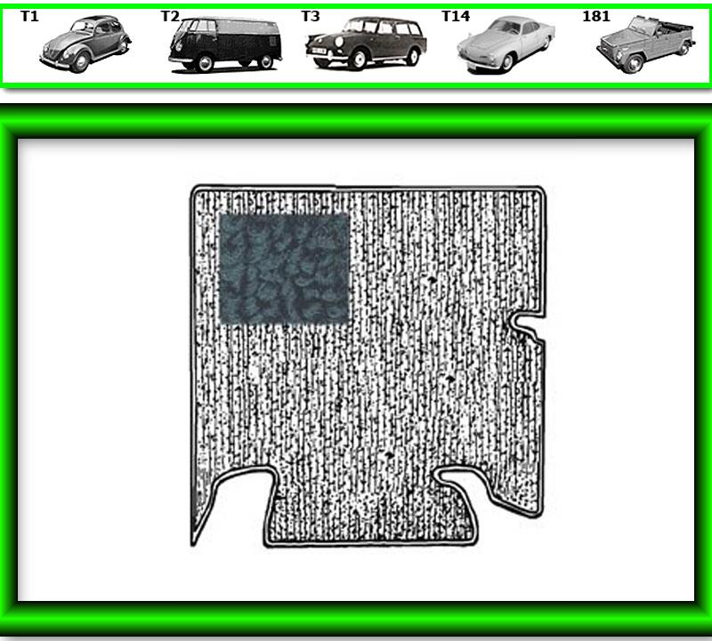 VW Käfer Kofferraum Teppich #582 für 855»761 schwarz TMI