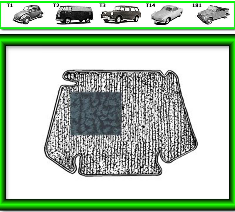 VW Käfer Kofferraum Teppich #583 für 861»767 schwarz TMI