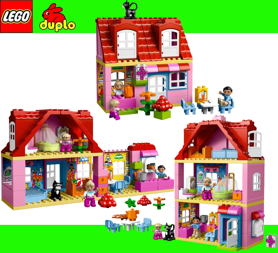 Lego Duplo 10505 Big House Family Home Dream House Mansion Girl Home ...