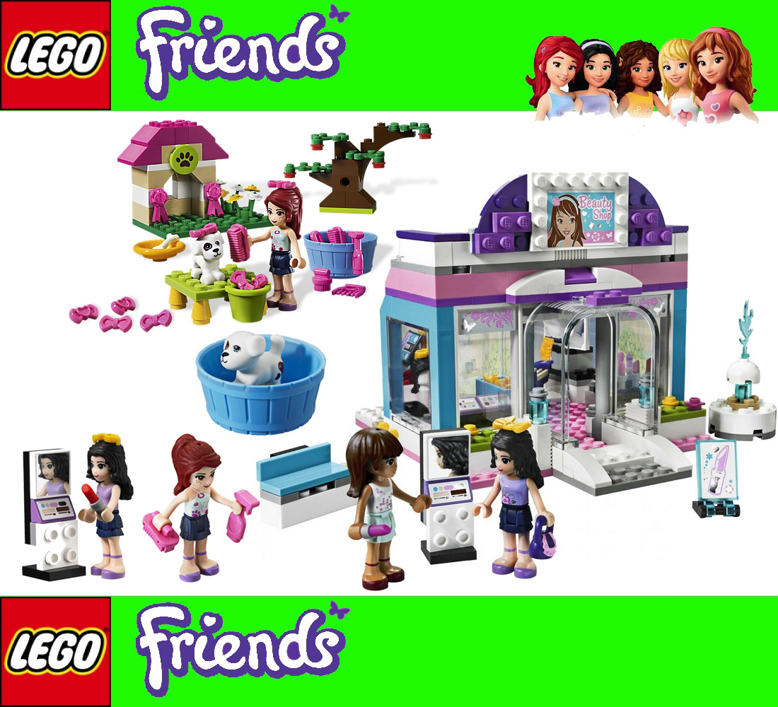 2 x lego friends 3187 3934 sch nheitssalon welpen for Lego friends salon de coiffure