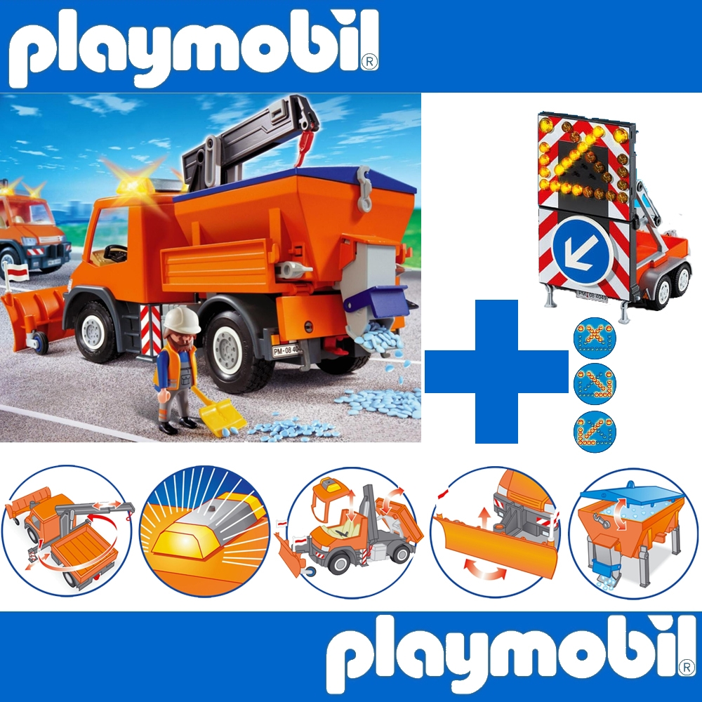 playmobil set 4046 6227 strassenmeisterei mit led. Black Bedroom Furniture Sets. Home Design Ideas